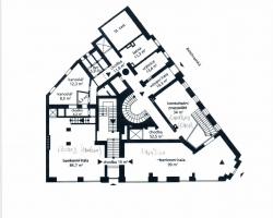 Plány a dispozice prostor po bance a suterén - archiv, trezory-1