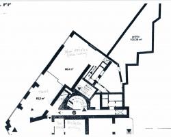 Plány a dispozice prostor po bance a suterén - archiv, trezory-2